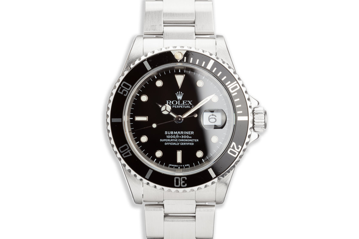 1997 Rolex Submariner 16610 with Box and Papers photo, #0