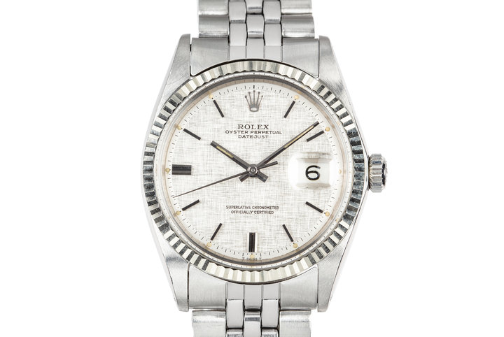 1970 Rolex DateJust 1601 with Silver Linen Dial photo