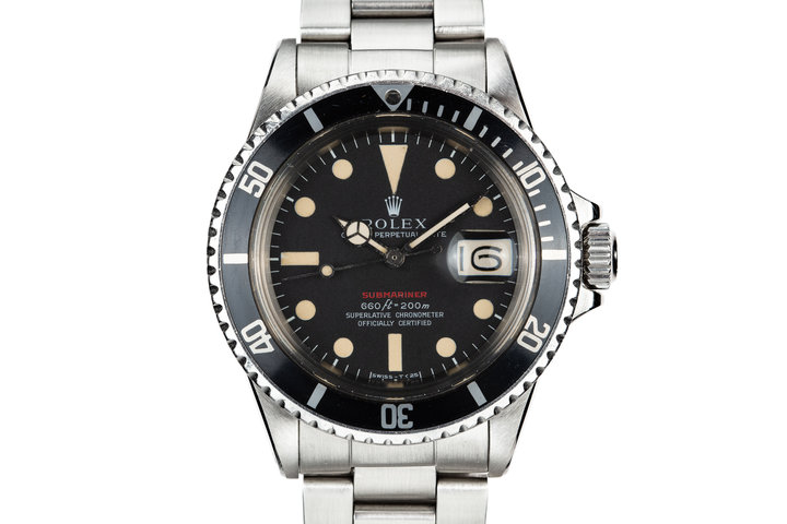 """1970 Rolex Red Submariner 1680 MK IV Dial with """"Kissing 40"""" Insert photo"""