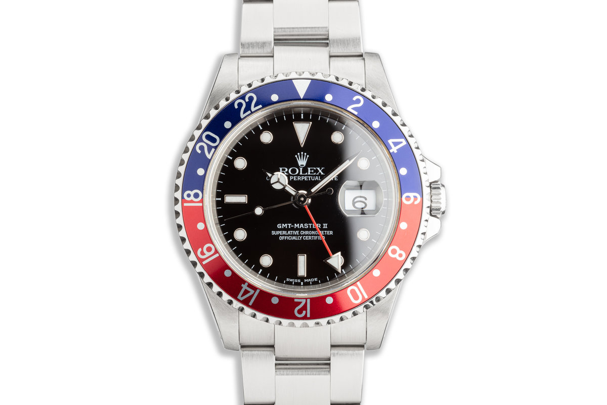 "2000 Rolex GMT-Master II 16710 ""Pepsi"" Bezel with Box and Papers photo, #0"