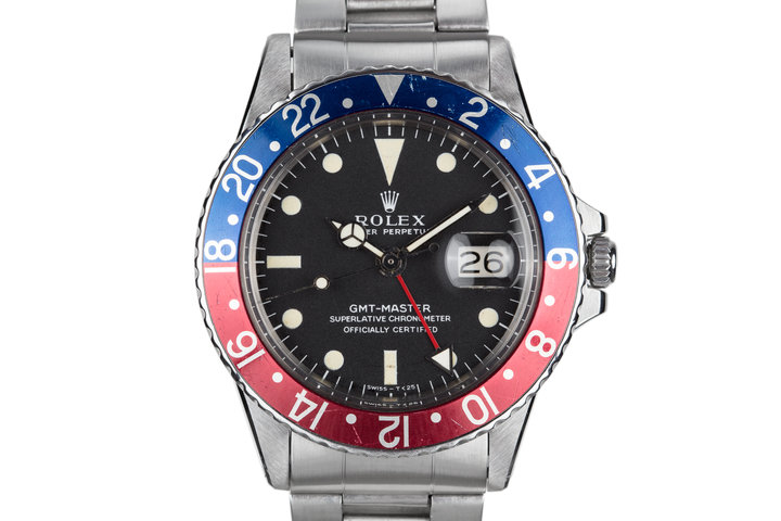 """1970 Rolex GMT-Master 1675 """"Pepsi"""" with Box and Papers photo"""