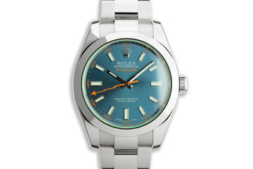 2018 Rolex Milgauss 116400GV Blue Dial with Box and Card photo