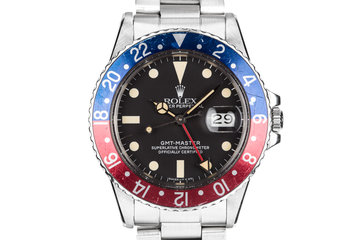 """1983 Rolex GMT-Master 16750 Matte Dial """"Pepsi"""" with Box and Papers photo"""