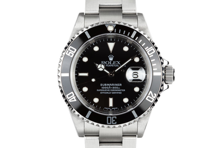 2003 Rolex Submariner 16610 with Service Papers photo