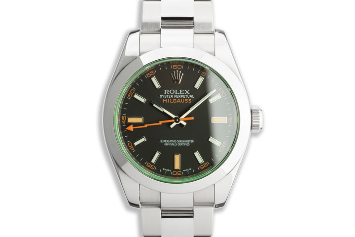 2009 Rolex Milgauss 116400GV with Box and Card photo