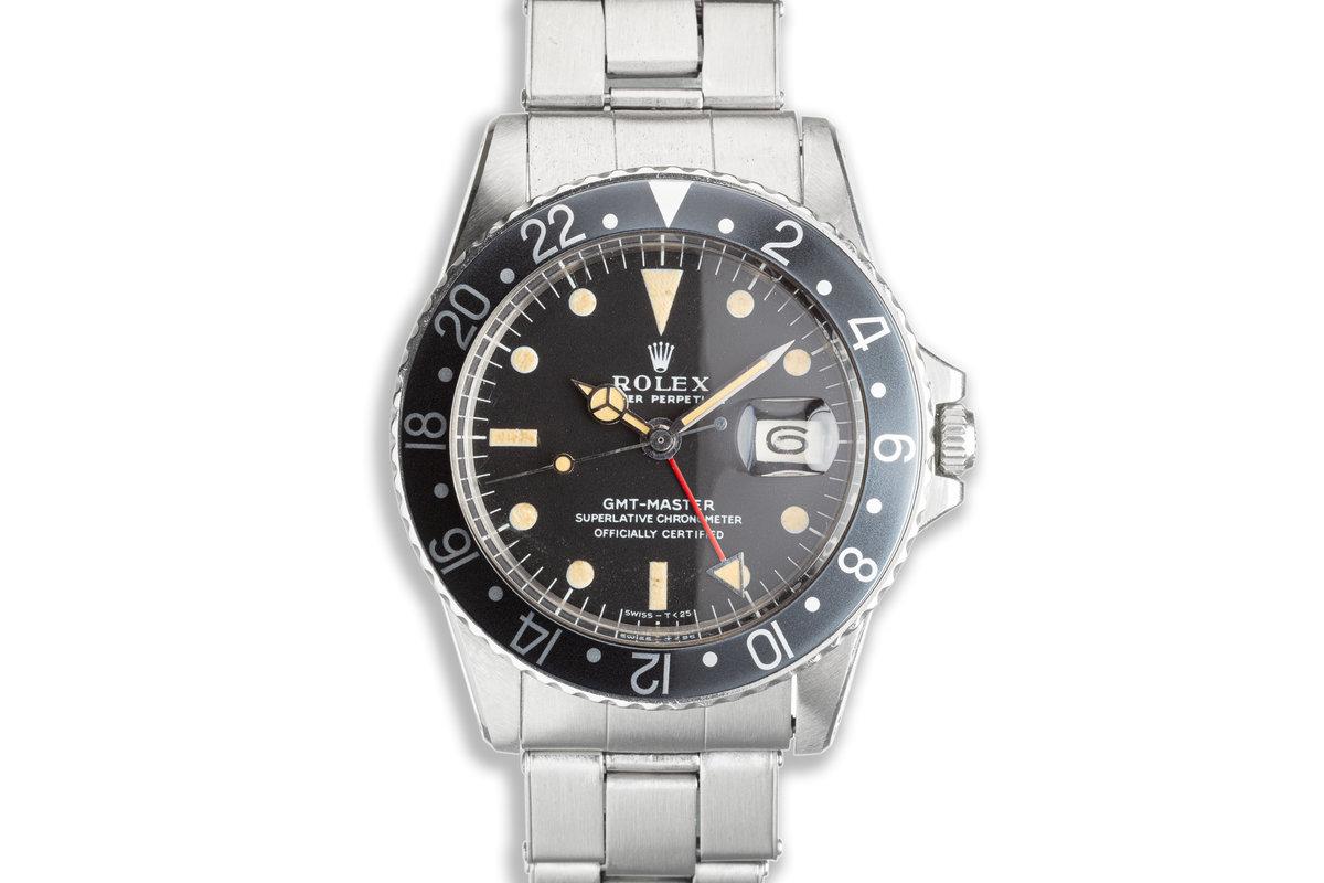 1971 Vintage Rolex GMT-Master 1675 Black Bezel photo, #0