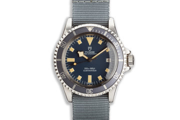 1976 Tudor Snowflake Submariner 9411/0 Blue Dial photo