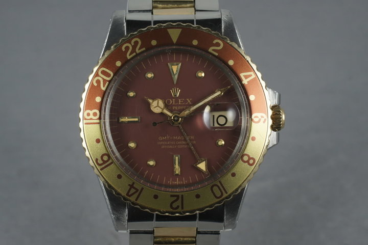 1970 Rolex GMT 14K/SS 1675 with Root Beer Dial photo