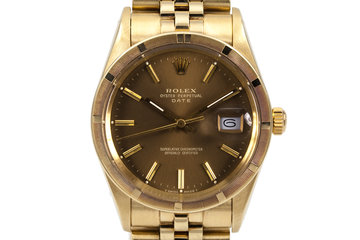 1981 Rolex 14K YG Date 15017 with Brown Dial photo