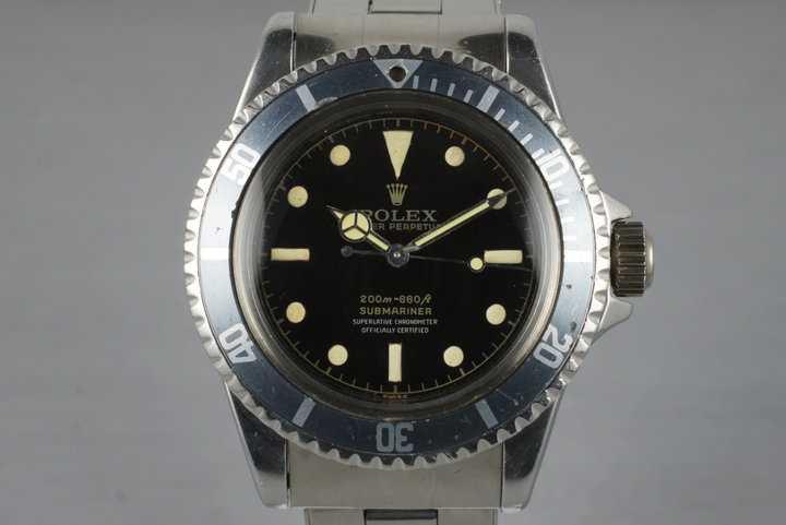 1961 Rolex Submariner 5512 PCG with Glossy Gilt 4 Line Dial photo