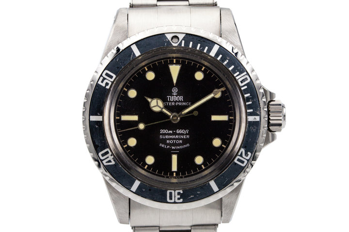 1964 Tudor Submariner 7928 Black Gilt with Box and Papers photo
