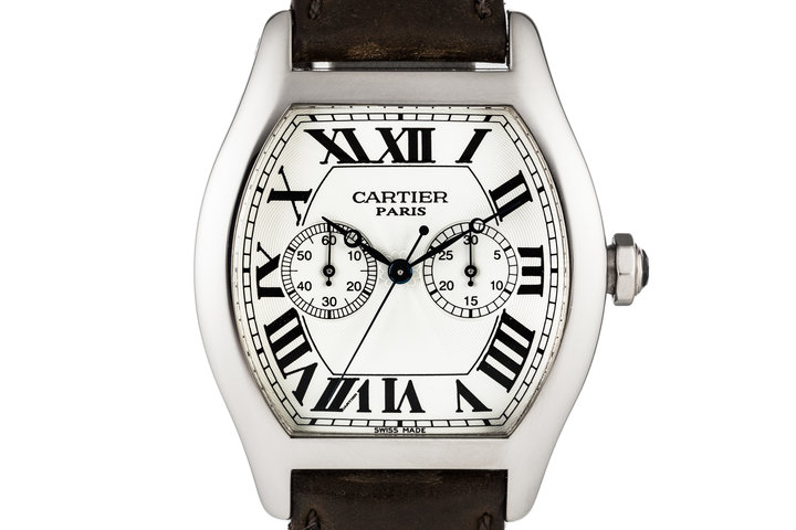 Cartier Tortue Chronograph 18K White Gold Manual W1546551 with Box and Papers photo