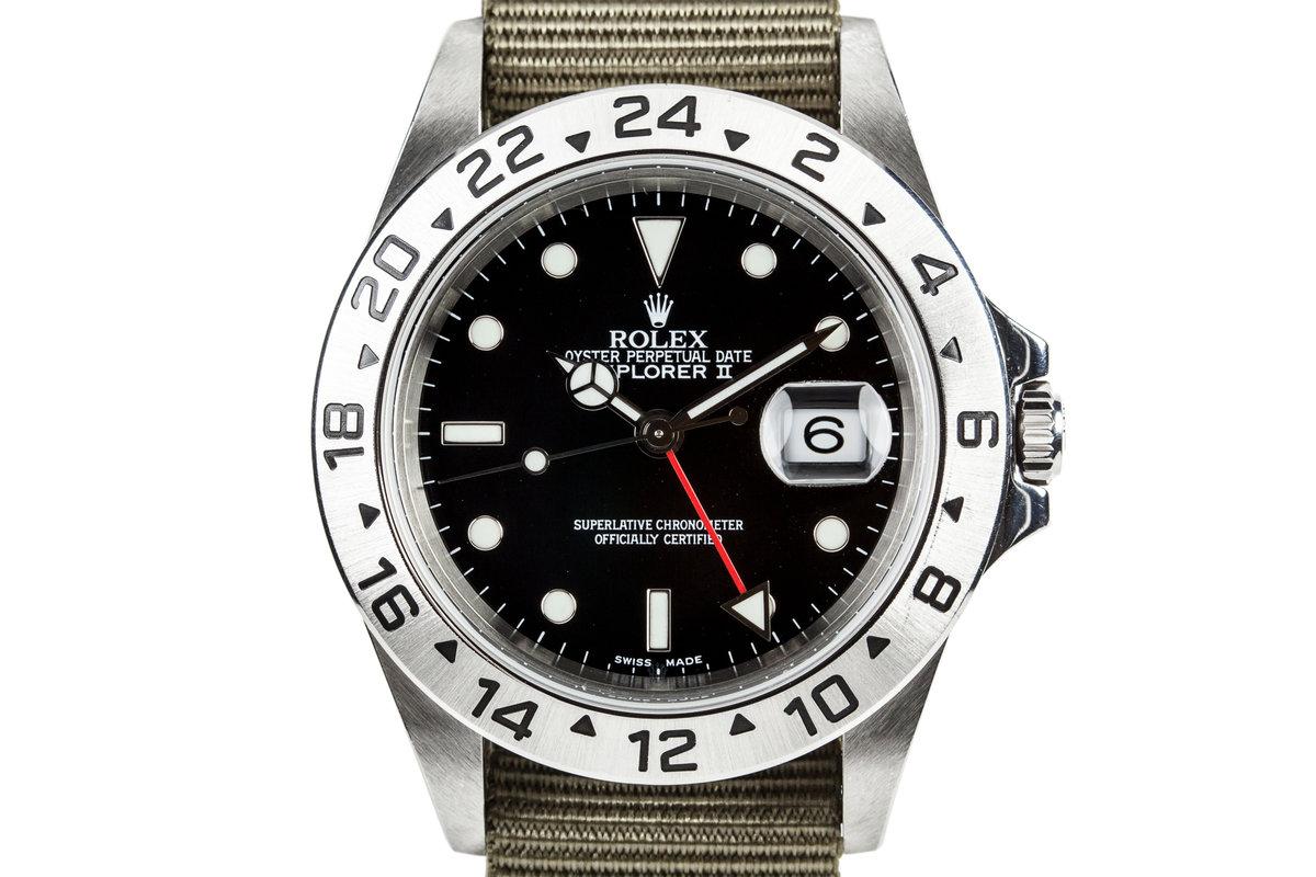 2003 Rolex Explorer II 16570 with Black Dial photo, #0