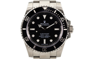 2015 Rolex Submariner 114060 with Box and Papers photo
