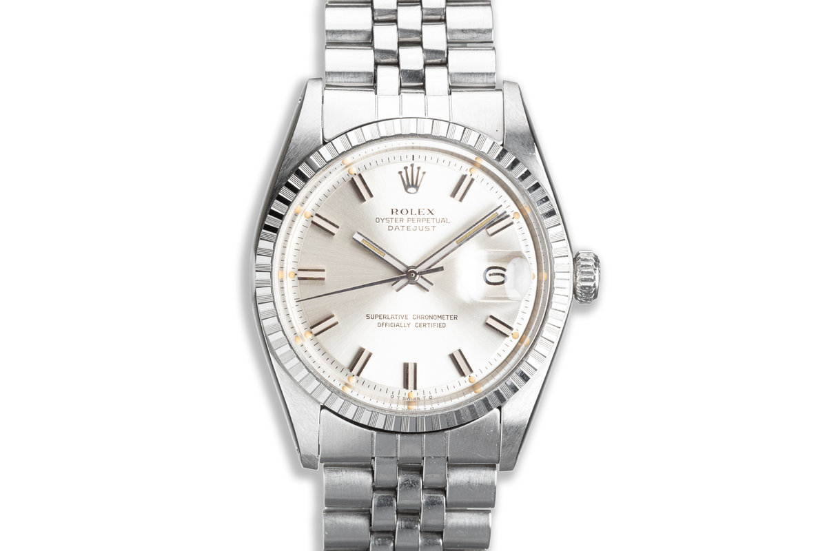 1973 Vintage Rolex DateJust Wide Boy 1603 with Silver Sigma Dial photo, #0