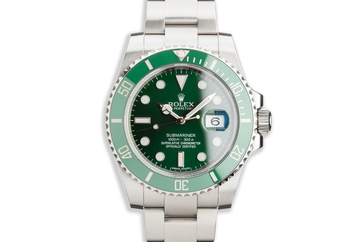 """2013 Rolex Green Submariner 116610LV """"Hulk"""" with Box and Papers photo"""