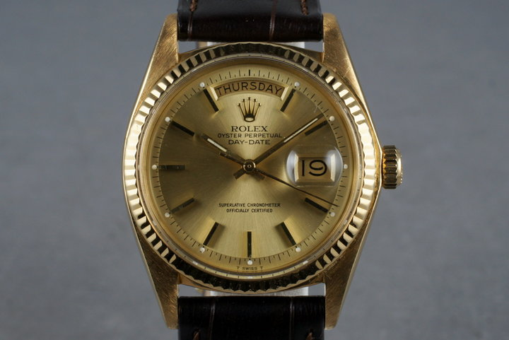 1972 Rolex YG President 1803 with Box and Papers photo