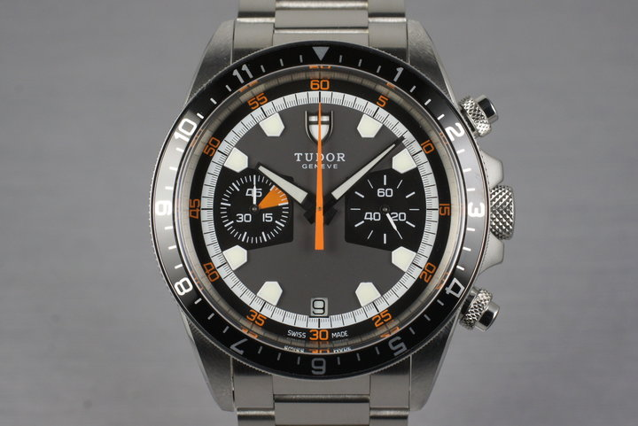 2010 Tudor Heritage Chrono 70330N with Box and Papers photo