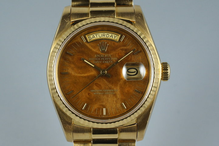 1979 Rolex YG Day-Date 18038 with Wood Dial photo