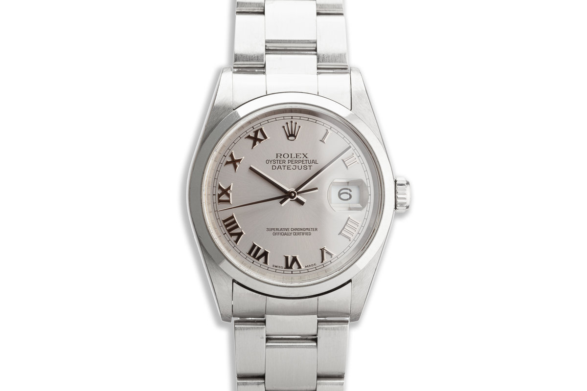 2003 Rolex DateJust 16200 with Silver Roman Dial photo, #0