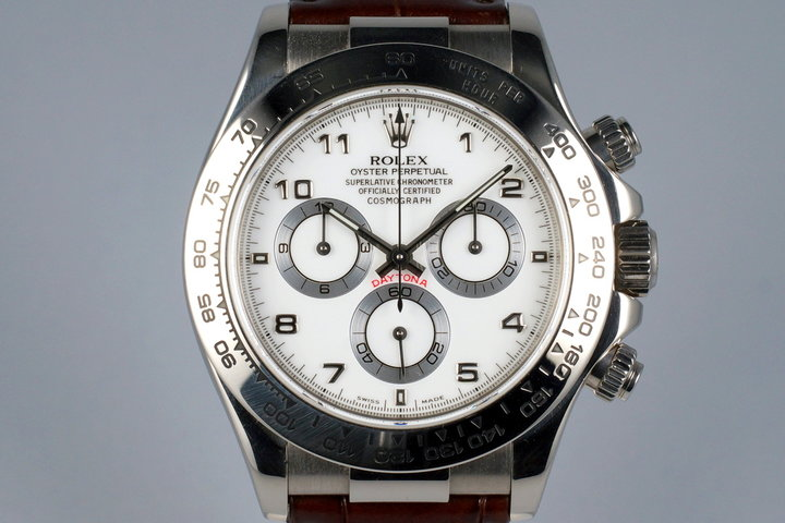 2000 Rolex WG Daytona 116519 with Box and Papers photo