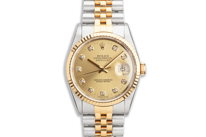 1996 Rolex Two-Tone DateJust 16233 Diamond Dial photo