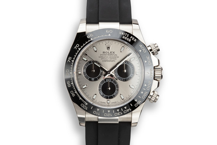 2019 Rolex 18K WG Daytona 116519LN Grey Dial with Box and Papers photo