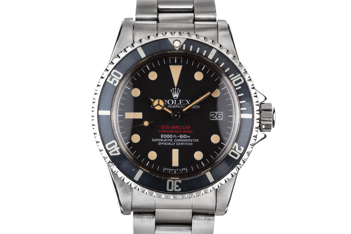 1977 Rolex Double Red Sea-Dweller 1665 with Service Papers photo, #0