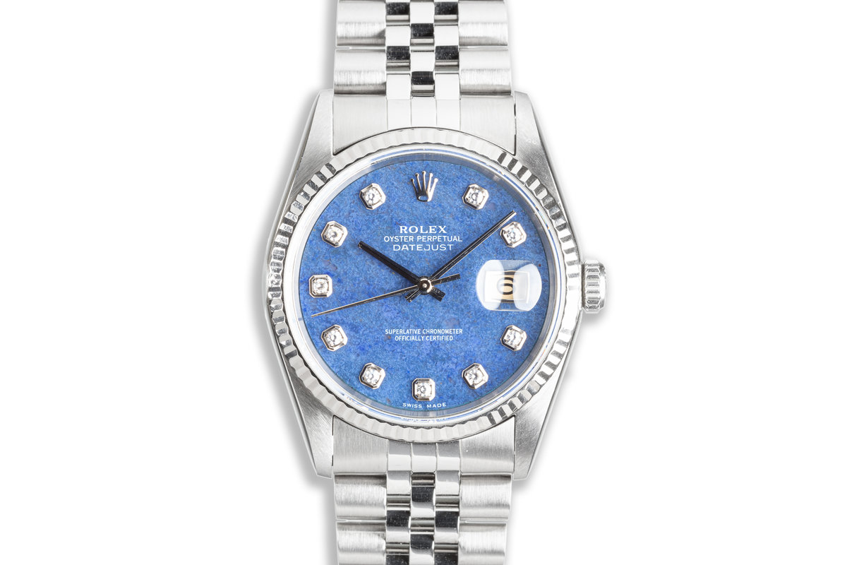 1996 Rolex Datejust 16234 Blue Sodalite Diamond Dial photo, #0