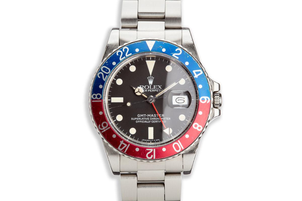 "1984 Rolex GMT-Master 16750 ""Pepsi"" Matte Dial photo, #0"