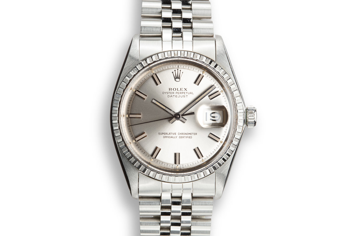 "1969 Rolex DateJust 1603 with Silver ""Wide Boy"" Dial photo, #0"
