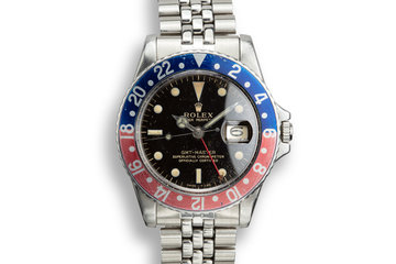 1965 Rolex GMT-Master 1675 Gilt Dial with Box and Papers photo