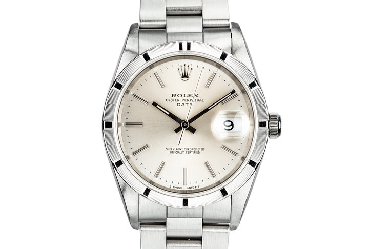 1991 Rolex Date 15210 Silver Dial photo