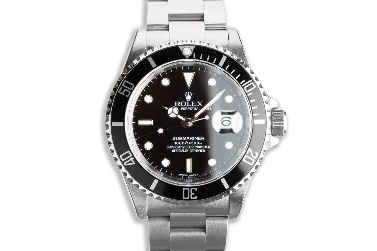 1995 Rolex Submariner 16610 with Box & Papers photo, #0