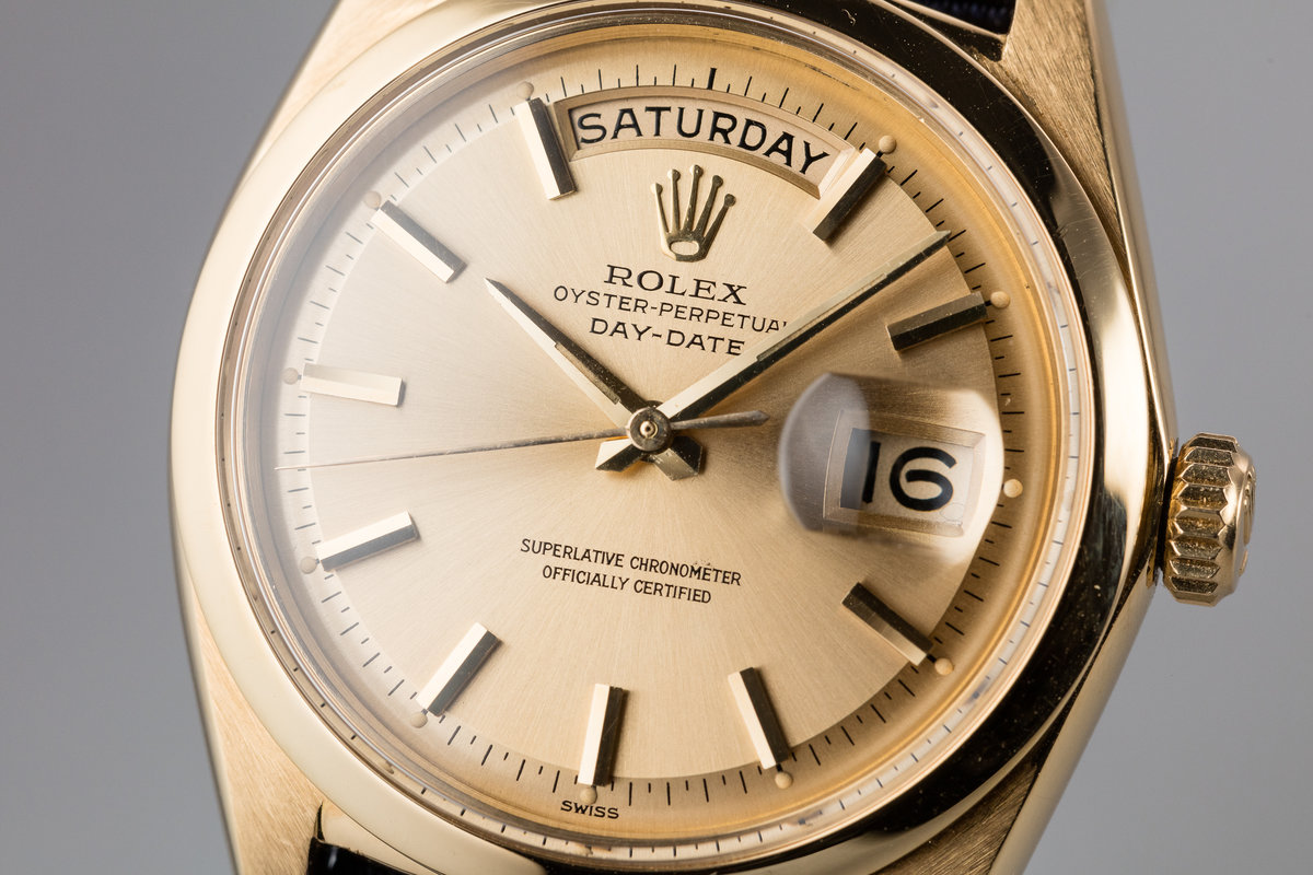 HQ Milton - 1963 Vintage Rolex 18K YG Day-Date 1802 SWISS Only ...