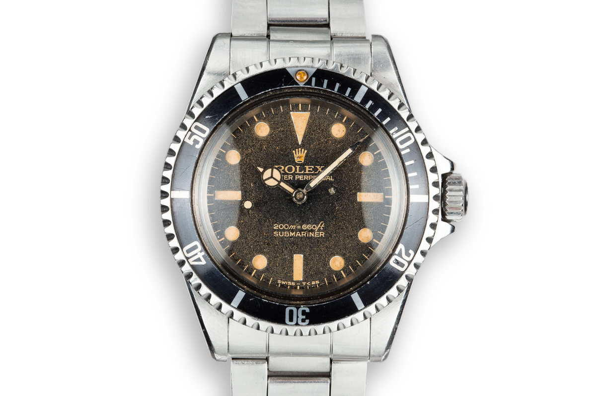 "1966 Rolex Submariner 5513 with Gilt ""Bart Simpson"" Dial photo, #0"