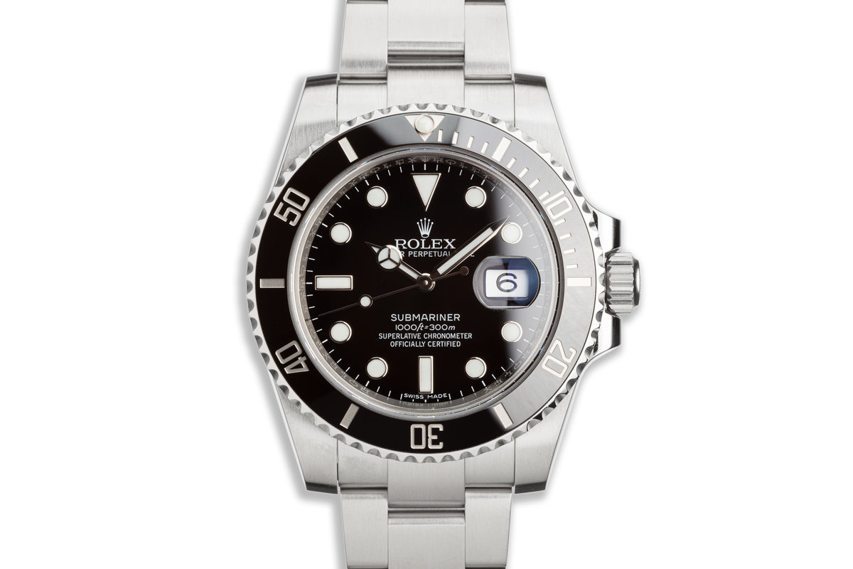 2018 Rolex Ceramic Submariner 116610LN with Box and Card photo, #0