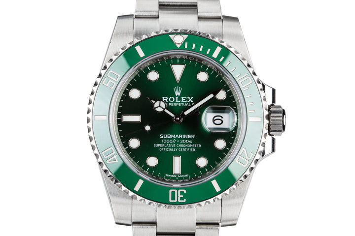 "2017 Rolex Green Submariner 116610LV ""Hulk"" with Box and Papers photo"