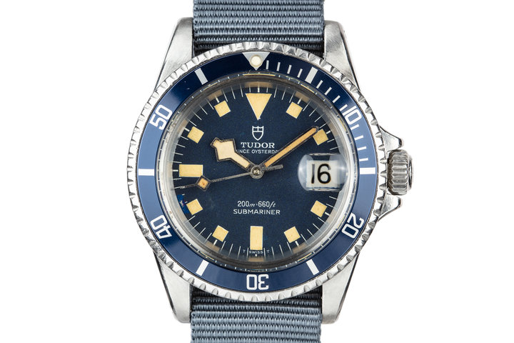 1968 Tudor Snowflake Submariner 7021/0 Blue photo