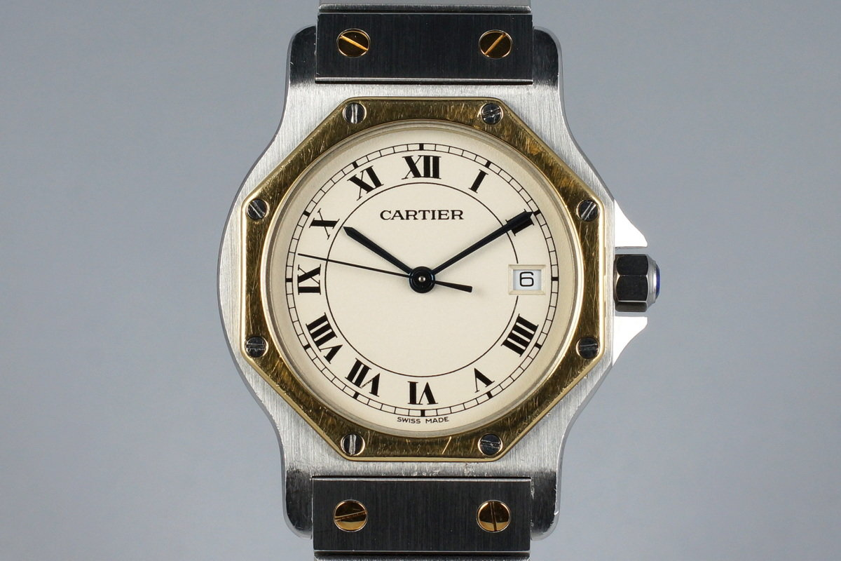 Cartier Ladies Quartz Two Tone Santos Octagon 187902 photo, #0