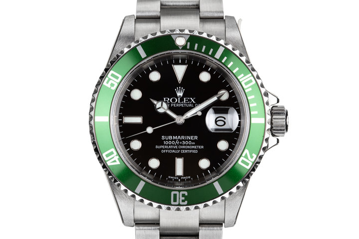 2005 Rolex Mint Green Submariner 16610LV with Box and Papers photo
