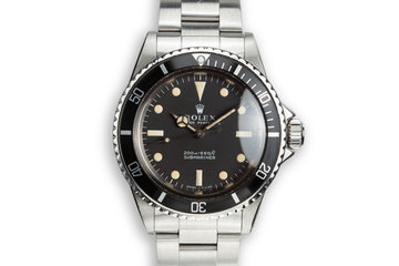1966 Rolex Submariner 5513 with Newer Matte Meters First Dial with Box photo
