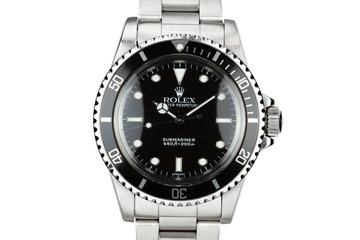 """1986 Rolex Submariner 5513 Glossy """"SWISS"""" Only Luminova Service Dial with Box and Papers photo"""