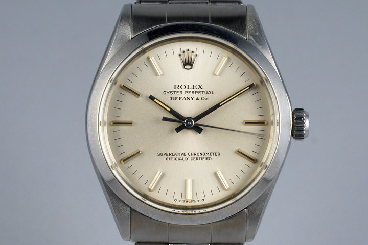 1972 Rolex Oyster Perpetual 1002 Tiffany & Co. Dial photo