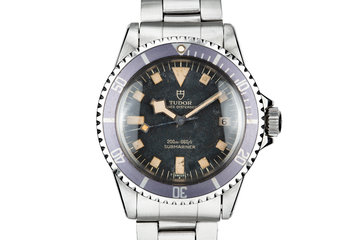 "1974 Tudor Snowflake Submariner 9411/0  ""Stone"" Dial with Lavender Bezel Insert photo"