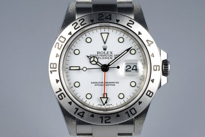 2004 Rolex Explorer II 16570 White Dial with Box and Papers photo
