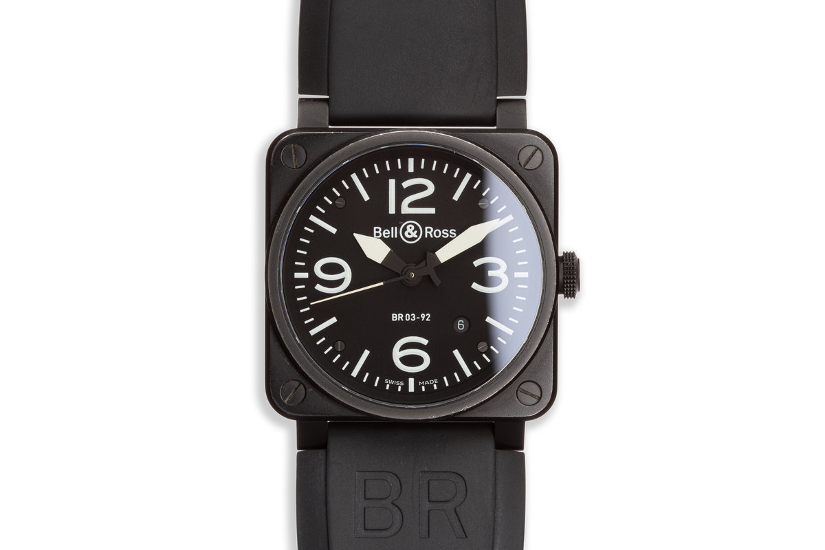 Bell & Ross BR0392-BL-CE BLACK MATTE photo, #0