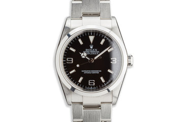 2003 Rolex Explorer 114270 with Box and Papers photo