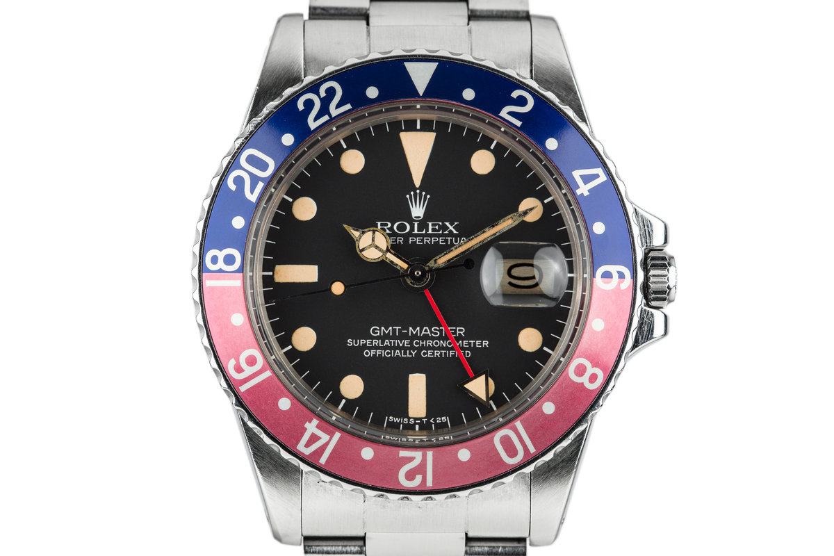 """1977 Rolex GMT-Master 1675 """"Pepsi"""" with Box and Papers photo, #0"""