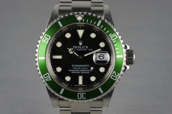 2004 Rolex Green Submariner 16610T photo
